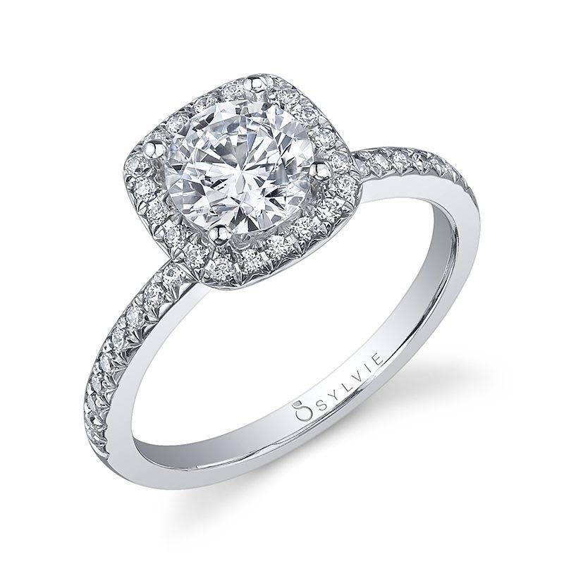 Lisette - Round Cushion Halo Engagement Ring