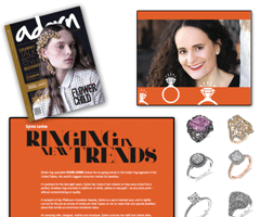 """Sylvie Levine Featured In """"Adorn"""" Magazine For Today's Trends In Bridal!"""
