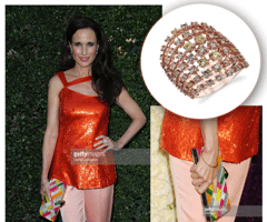 Andie MacDowell Decorates With Sylvie's Rose Gold and Mixed Diamond Fashion Ring!