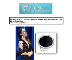 """The Centurion - Celebrity News"" Spots Keri Russell Wearing Sylvie's Glamorous Black Onyx and Diamond Fashion Ring!"