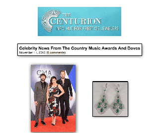 """""""The Centurion: Celebrity News"""" Highlights Hillary Scott of Lady Antebellum Adorned With Sylvie's Diamond and Emerald Fashion Earrings!"""