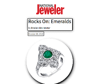 """National Jeweler"" Presents Sylvie's Vintage Inspired Emerald Engagement Ring!"