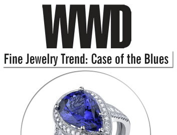 Sylvie's tanzanite ring is featured today on WWD online