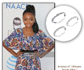Skai Jackson, Actress, Dazzles With Diamond Stackable Bands From The Sylvie Collection!