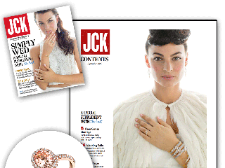 """JCK Magazine"" Teams Up With ""The Knot"" And Features Sylvie's Rose Gold and Morganite Engagement Ring!"
