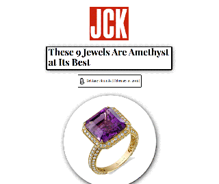 """""""JCK"""" Features Sylvie's Amethyst and Diamond Fashion Ring!"""