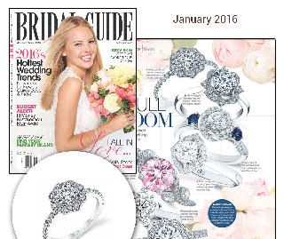 """""""Bridal Guide"""" Magazine Highlights Sylvie's Intricate Floral Inspired Diamond Engagement Ring!"""