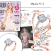 """Bridal Guide"" Article ""All That Glitters - In The Pink"" Illustrates Rose Gold Trends With Sylvie's Emerald Cut Engagement Ring!"