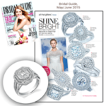 """Bridal Guide"" Magazine Highlights Sylvie's Unique Twin Halos Diamond Engagement Ring!"
