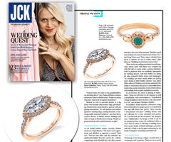 JCK Magazine Features Sylvie's East-West Engagement Ring