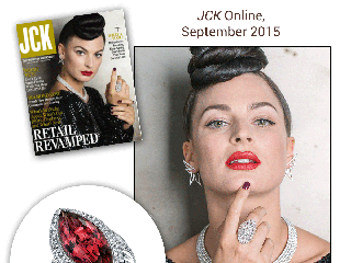 "Sylvie's Dramatic Marquise Cut Pink Tourmaline Diamond Ring Is Highlighted in ""JCK"" Online!"