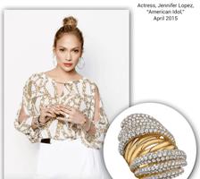 Stunning Jennifer Lopez Wears Sylvie's Stunning Diamond and Gold Coil Fashion Ring!