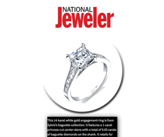 """""""National Jeweler"""" Features Princess Cut Diamond Engagement Ring From The Sylvie Collection!"""