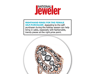 """National Jeweler"" Selects Sylvie's Rose Gold Diamond Fashion Ring For Self-Purchasers!"