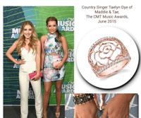Country Singer, Taelyn Dye of Maddie & Tae, Glamorizes With Sylvie's Rose Gold Floral Fashion Ring!