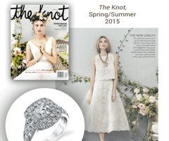 """The Knot"" Magazine Accessorizes With Vintage Style Diamond Engagement Ring"