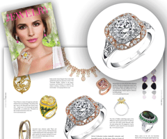 The Jewelry Book Features Sylvie's Vintage Rose and White Gold Engagement Ring in their Spring, 2015 Issue!