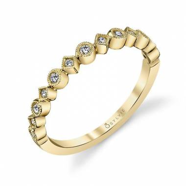 Amelie - Modern Stackable Wedding Band