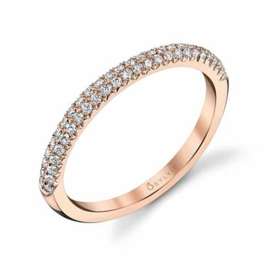 Arielle – Rose Gold & Diamond Stackable Wedding Band