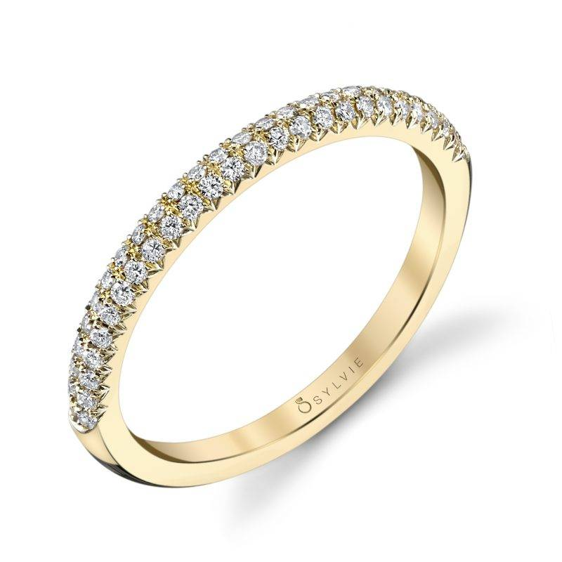 Amelie - Modern Stackable Wedding Band - B0013