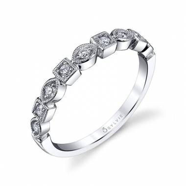 Modern Diamond Stackable Wedding Band_B0017-0017/D4W