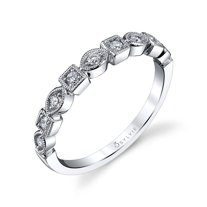 Milena - Modern Stackable Wedding Band - B0017
