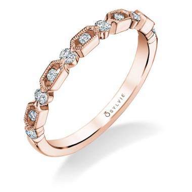 Diahna – Modern Rose Gold Wedding Band