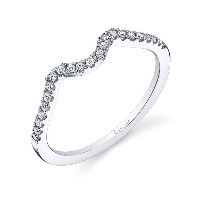 Jocelina - Spiral Engagement Ring with Halo - SY260