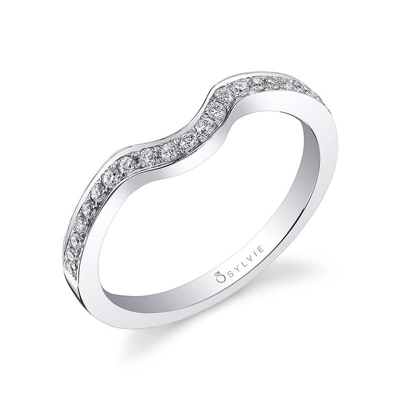 Classic Curved Milgrain Edge Wedding Band - BSY878