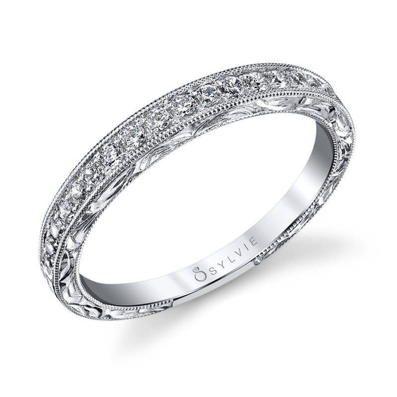 Hand Engraved Vintage Wedding Band - BS1363
