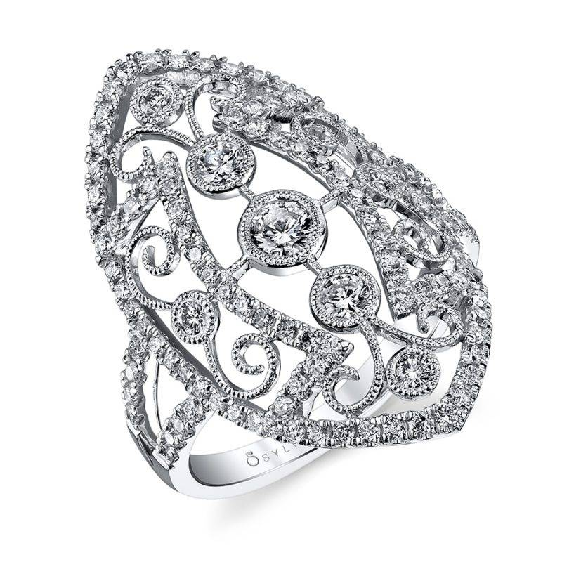 Vintage Inspired Diamond Fashion Ring - FR100