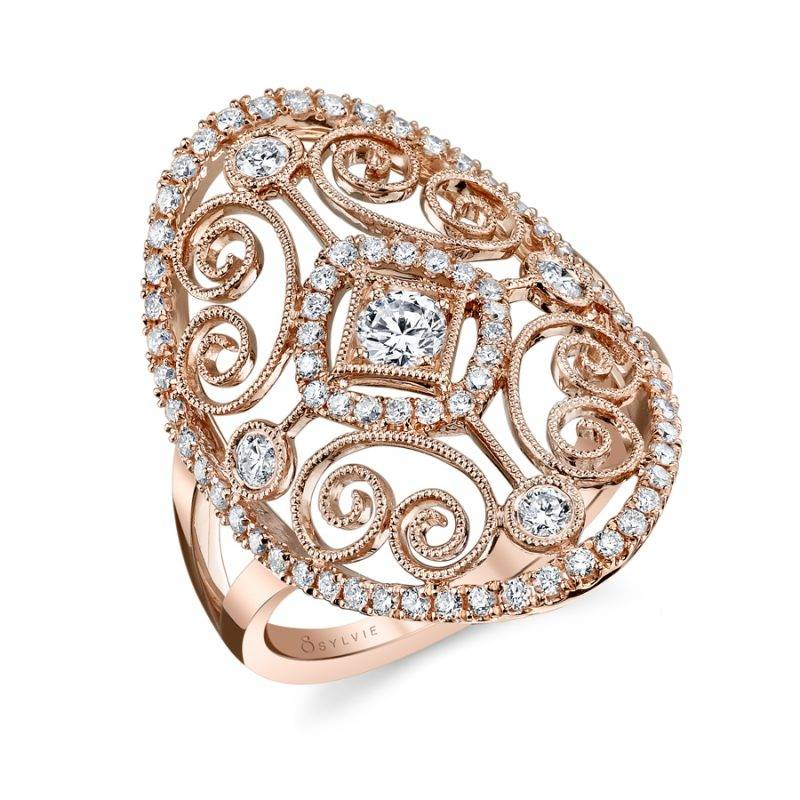 Vintage Inspired Fashion Ring - FR101