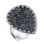 Black and White Diamond Fashion Ring