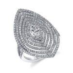 Unique Halo Fashion Ring