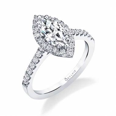 Halo Marquise Engagement Ring Sylvie-S1475_WG_MQ