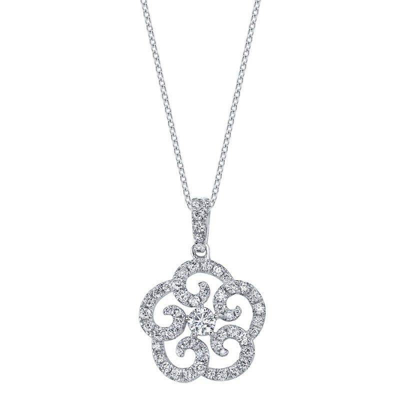 Modern Diamond Pendant - PD656