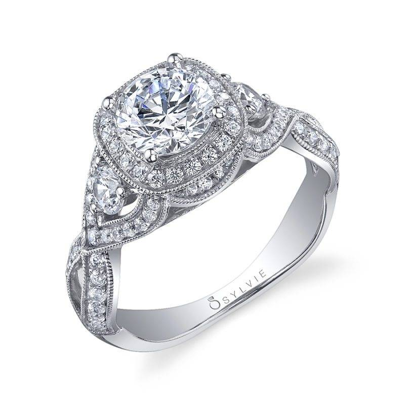 Gwendoline - Classic Halo Engagement Ring - SY854