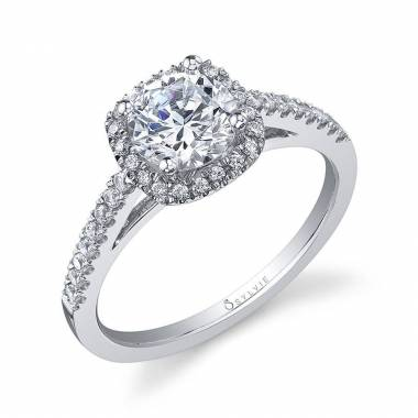 Classic Round Halo Engagement Ring_S1018-029A4W10R