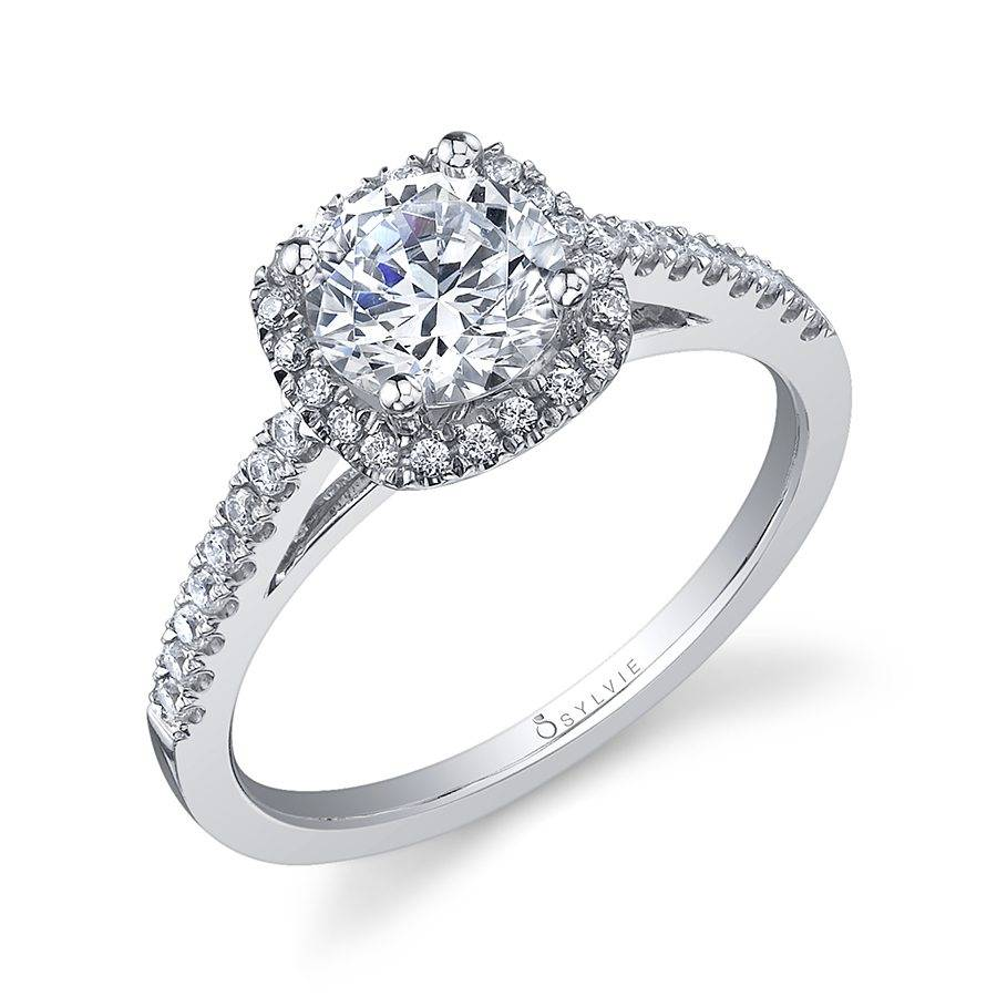 Michèle - Classic Round Halo Engagement Ring - S1018