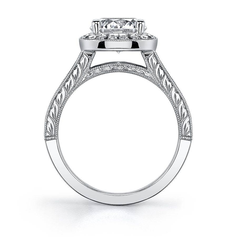 Dior - Vintage Inspired Halo Baguette Engagement Ring - S1056