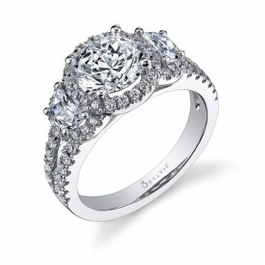 Thérésa - Princess Cut Engagement Ring with Split Shank - SY401