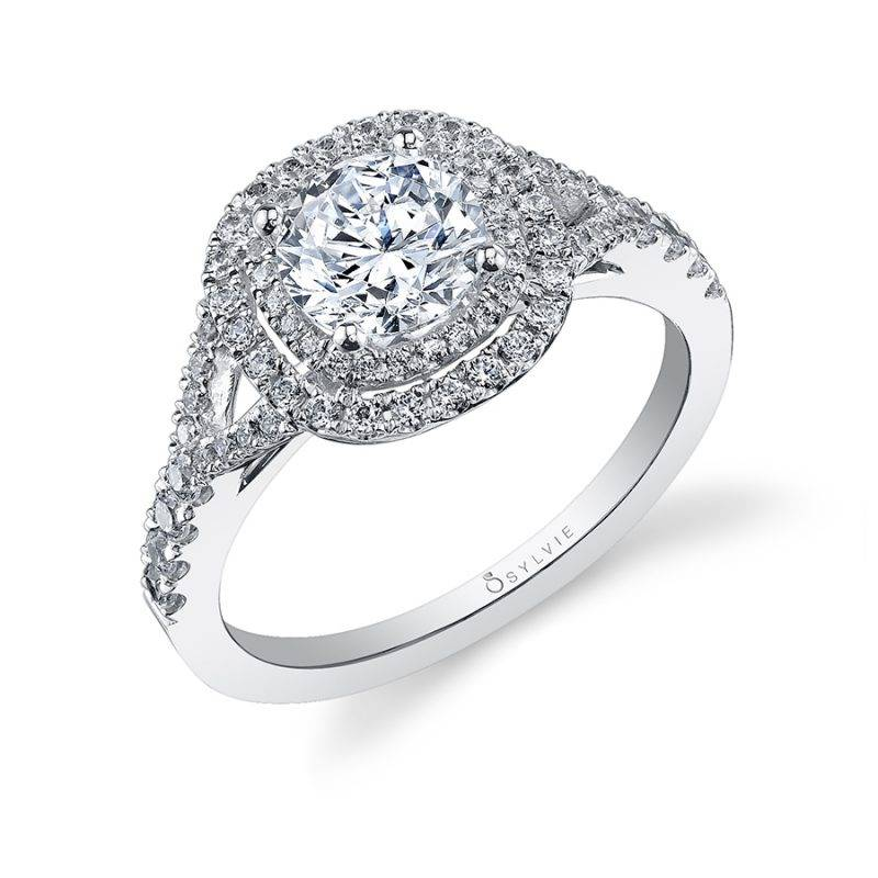 Melodie - Classic Double Halo Engagement Ring - S1097