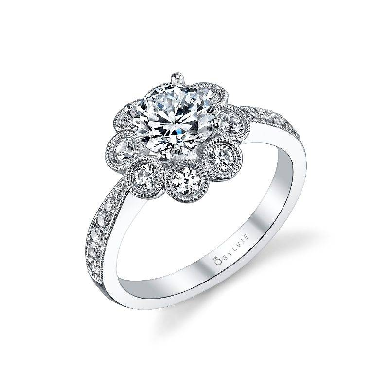 Melina Floral Inspired Engagement Ring S1102 Sylvie