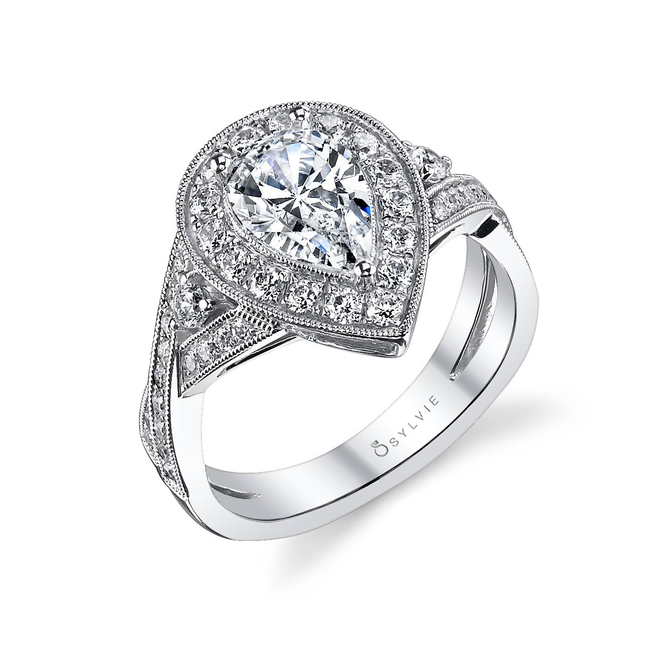 Catherine - Modern Halo Engagement Ring - SY865