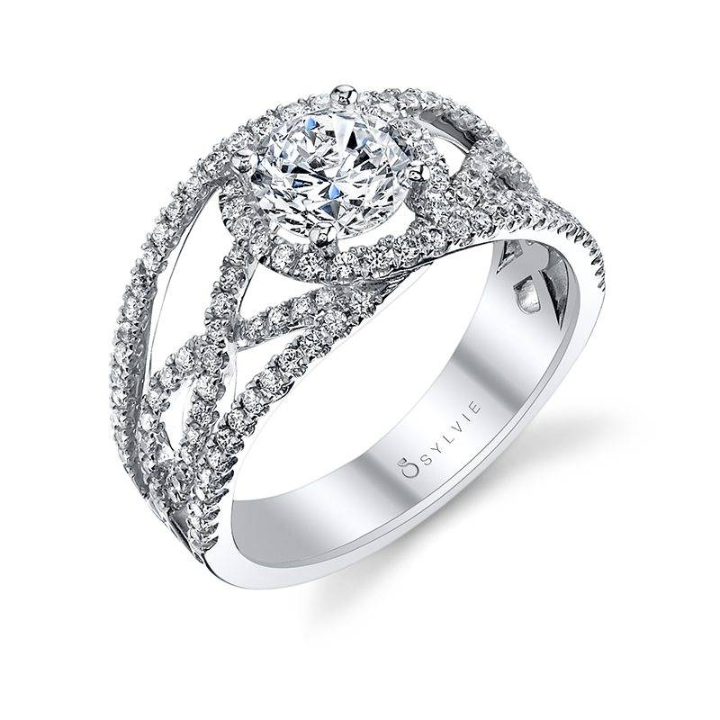 Françoise - Modern Spiral Engagement Ring with Split Shank - S1138