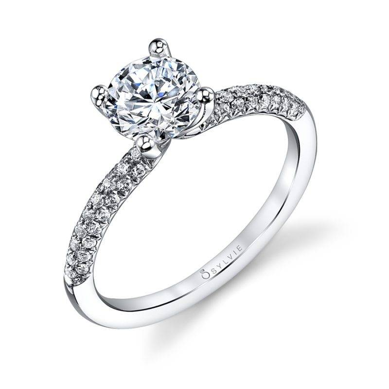 Victoria - Modern Baquette Engagement Ring - S1055