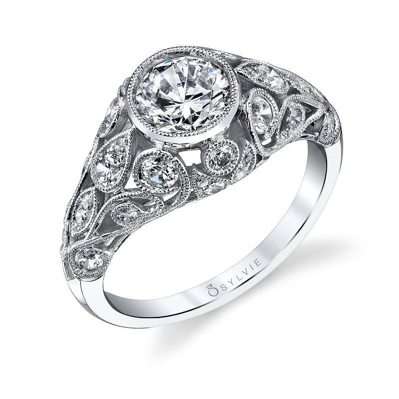 Alyssandra - Vintage Inspired Engagement Ring - S1203