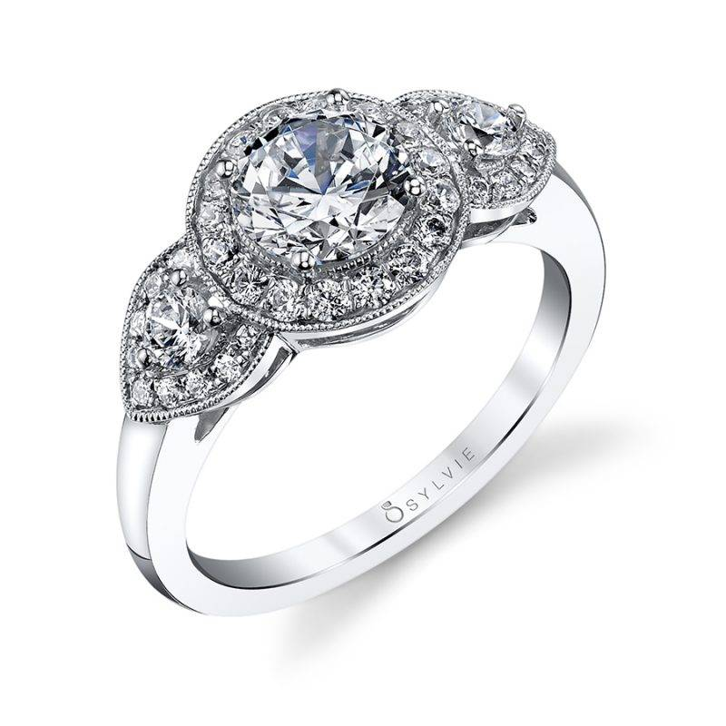 Chanelle - Round Solitaire Engagement Ring - S1509