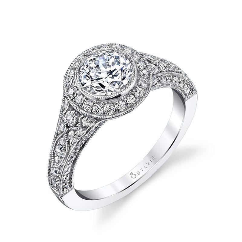 Elyse - Vintage Inspired 5 Stone Engagement Ring - SY878