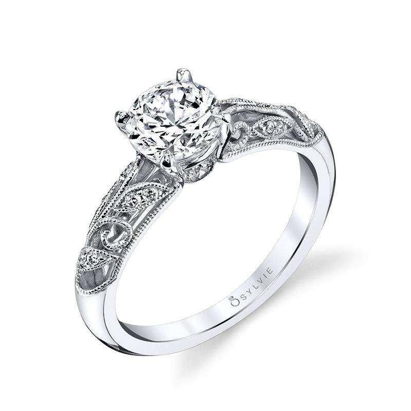 Cushion Shaped Double-Halo Diamond Engagement Ring_S1390-45A4W07O